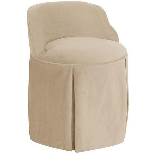 Uptown Vanity Chair in Velvet Pearl