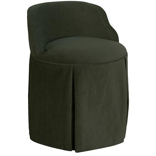Uptown Vanity Chair in Velvet Pewter