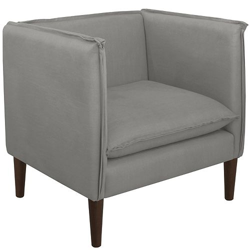 Riverdale French Seam Chair in Linen Grey