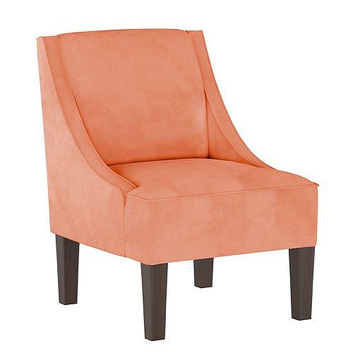 Fulton Swoop Arm Chair in Velvet Papaya