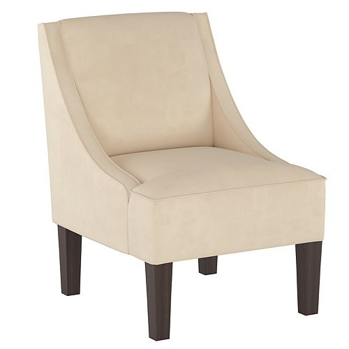 Fulton Swoop Arm Chair in Velvet Pearl