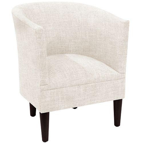 Wicker Tub Chair in Zuma White