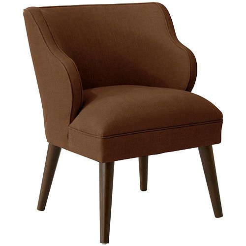 Douglas Modern Chair in Linen Chocolate