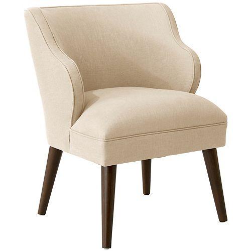 Douglas Modern Chair in Linen Linen