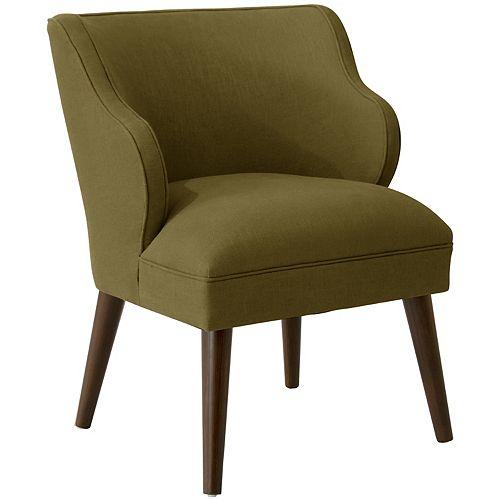 Douglas Modern Chair in Linen Olive