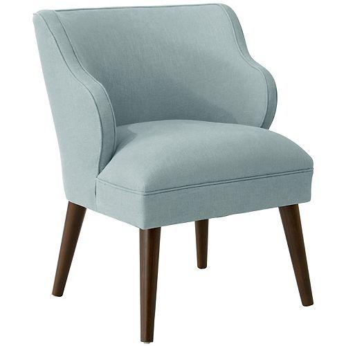 Douglas Modern Chair in Linen Seaglass