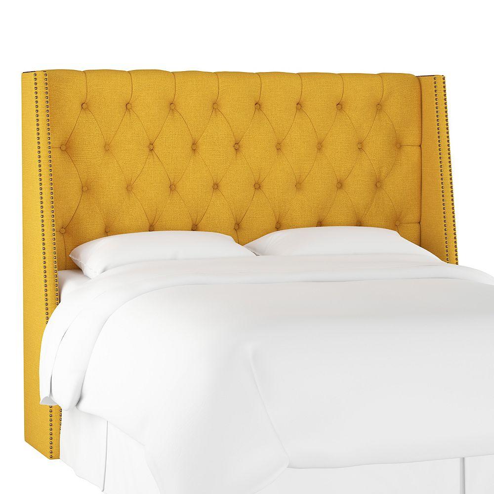 Skyline Furniture Bellevue Tête de lit queen en Linen French Yellow