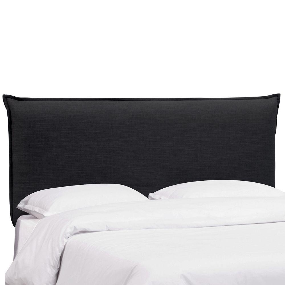 Skyline Furniture Sutton Tête de lit complète en Linen Black