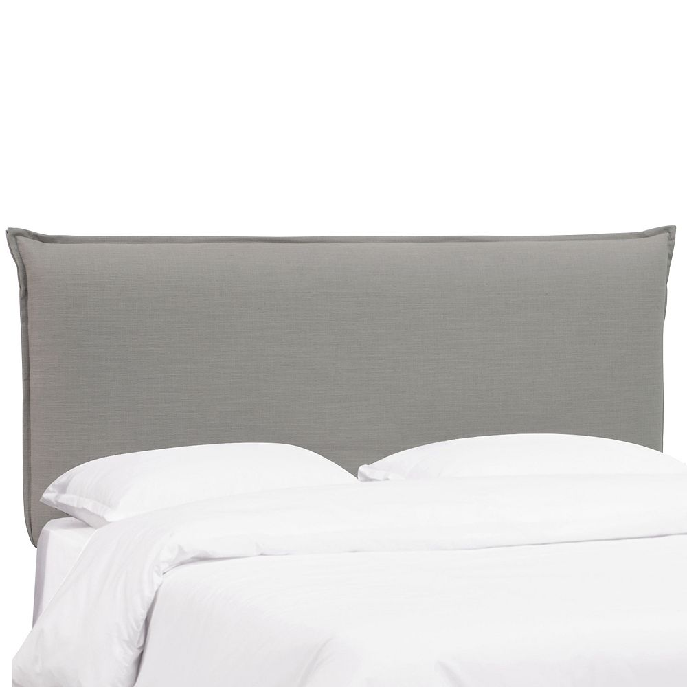 Skyline Furniture Sutton  Full French Seam Headboard in Linen Grey