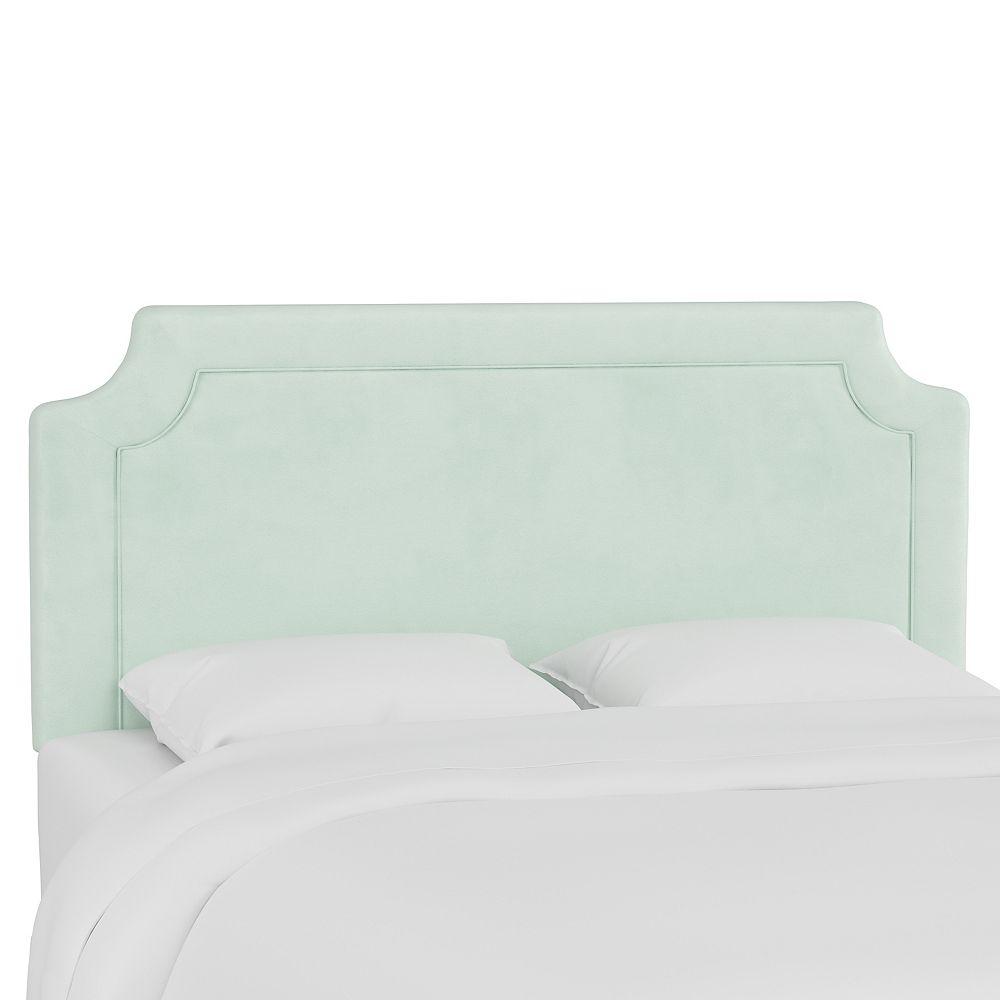 Skyline Furniture Gresham Tête de lit california king en Velvet Pool