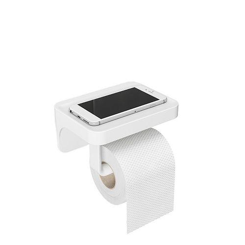 Umbra Flex Sure-Lock Toilet Paper Holder /Shelf White