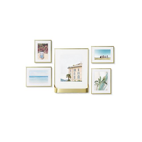 Umbra Matinee Photo Display Set Of 5 Matte Brass