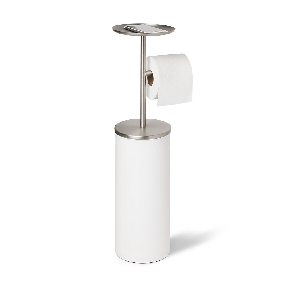 Umbra Umbra Portaloo Toilet Paper Stand White/Nickel