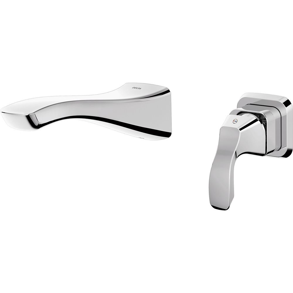 Delta Robinet de lavabo Tesla à poignée unique en chrome (robinet vendu séparément)