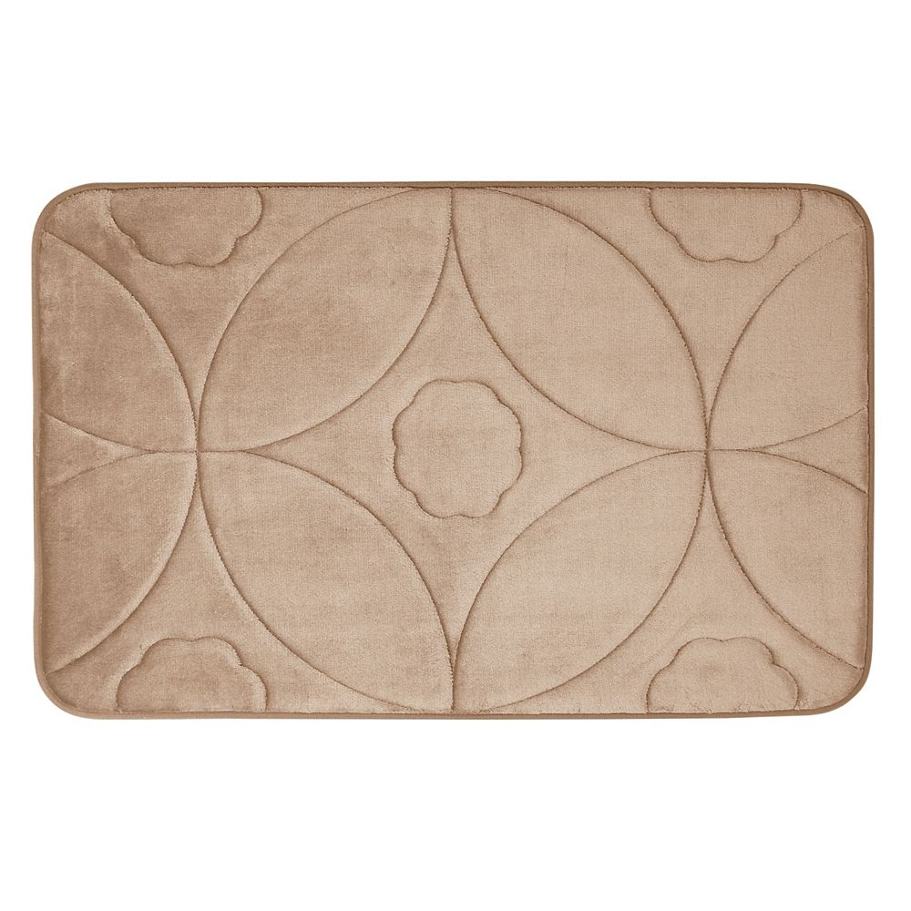 CHC Ogee - Memory Foam Bath Mat TAUPE 20X32