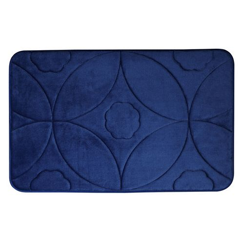 Motif en accolade - tapis de bain en mousse viscoélastique MARINE 51X81