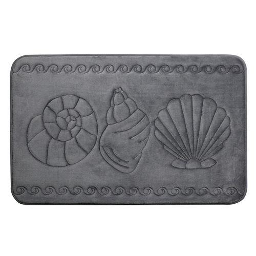 Coquillage - tapis de bain en mousse viscoélastique GRISFO 43X61