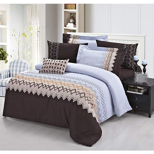 Home Depot 400 Thread Count 100% Long-Staple Cotton Sateen Embroidered Sheet Set