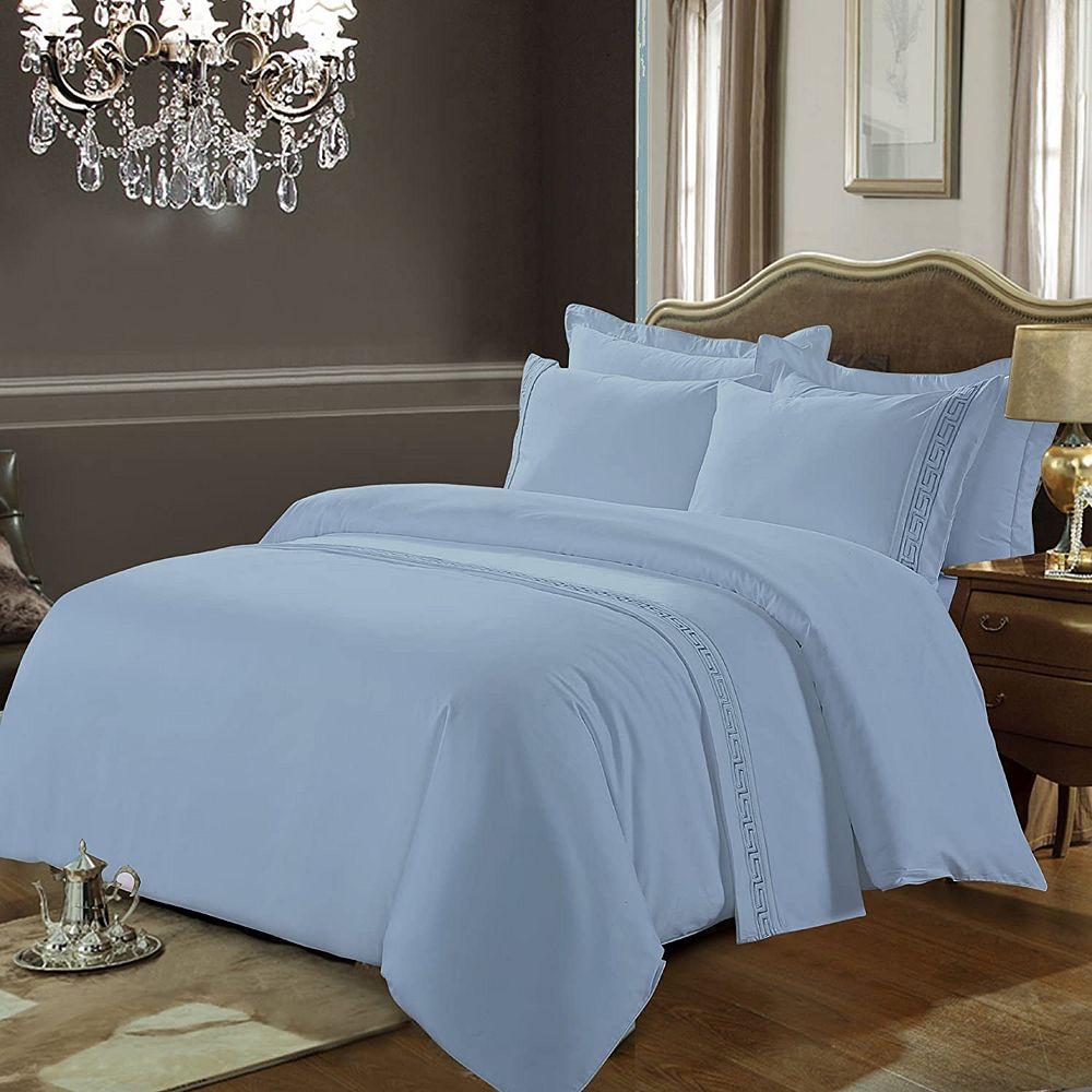 New Season Home Greeky Collection 600 Thread Count 100% Cotton 3-Pieces Duvet Cover Set King