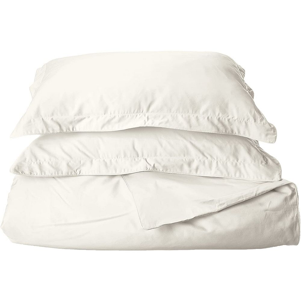 New Season Home Greeky Collection 600 Thread Count 100% Cotton 3-Pieces Duvet Cover Set Queen