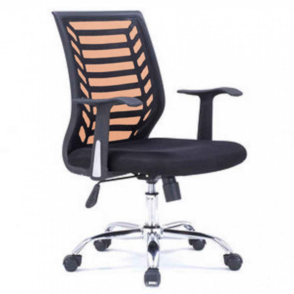 """American Imaginations Chaise de bureau 24,8 """", noir-orange"""