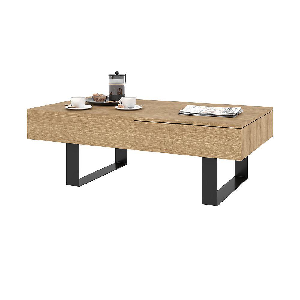 Lyra Table à café avec plateau relevable - Chêne naturel