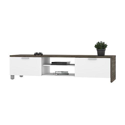 Lucida TV Stand - Walnut Grey & White