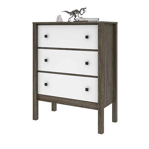 Capella Dresser - Walnut Grey & White