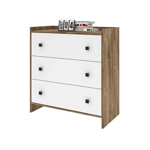 Sirah Dresser - Rustic Brown & White