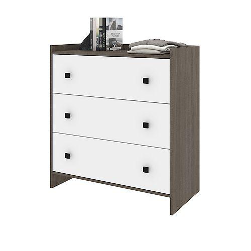 Sirah Dresser - Bark Gray & White