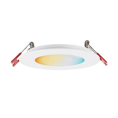 "4"" DuoBright Slim LED Recessed Kit 9 Watts Dimmable, Adjustable Color Temperature Selectable Range"