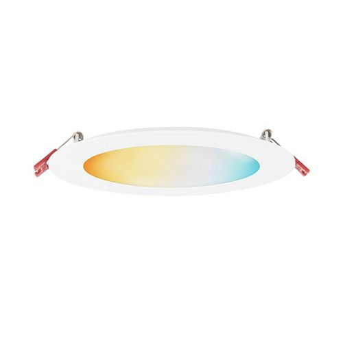 "6"" DuoBright Slim LED Recessed Kit 12 Watts Dimmable, Adjustable Color Temperature Selectable Range"