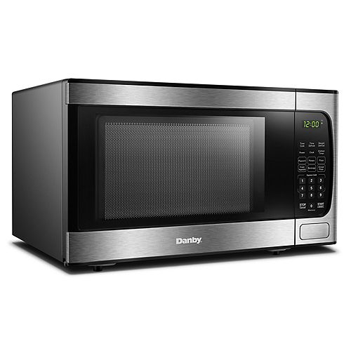 Danby 0.9 cu. ft. Countertop Microwave - Stainless Steel