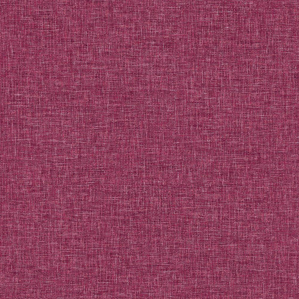 Arthouse Raspbery Linen Textures Wallpaper