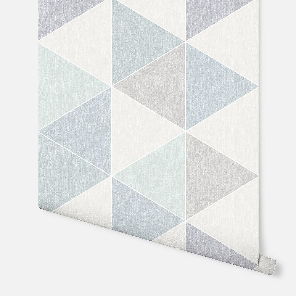Arthouse Scandi Triangle Teal Wallpaper