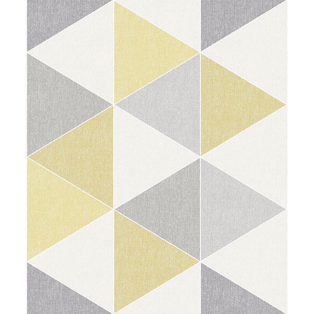 Arthouse Scandi Triangle Yellow Wallpaper