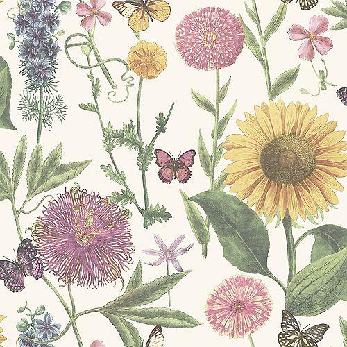 Summer Garden White Multi Wallpaper