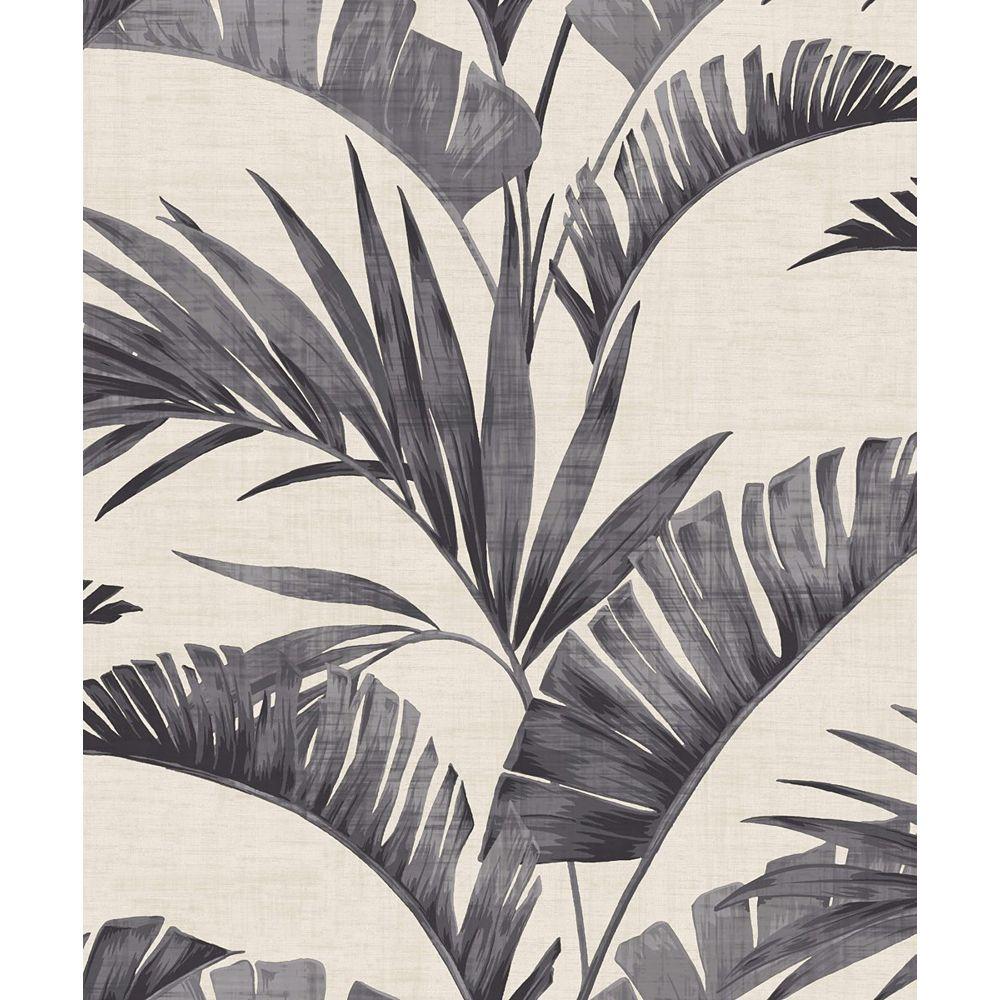 Arthouse Banana Palm Chalk Grey Non-Woven Wallpaper