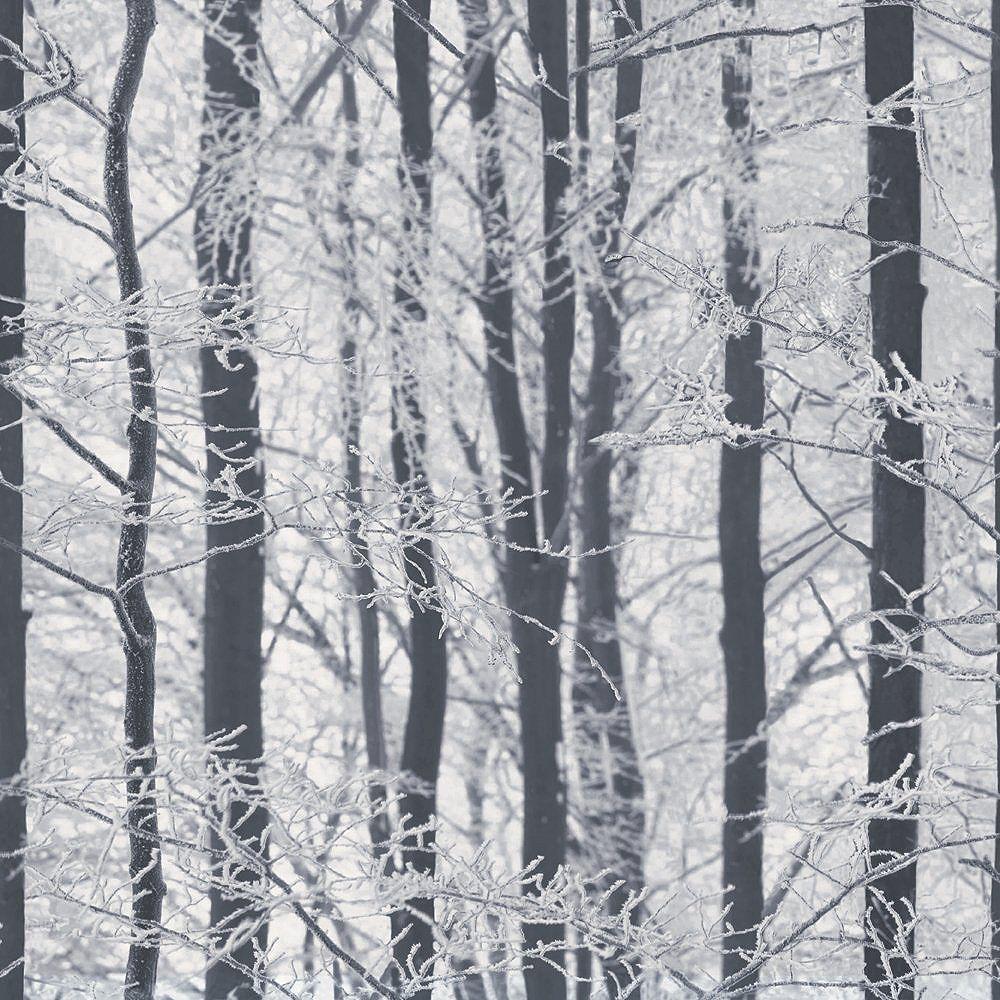 Arthouse Foil Embossed Leaf Silver Vinyl Wallpaper