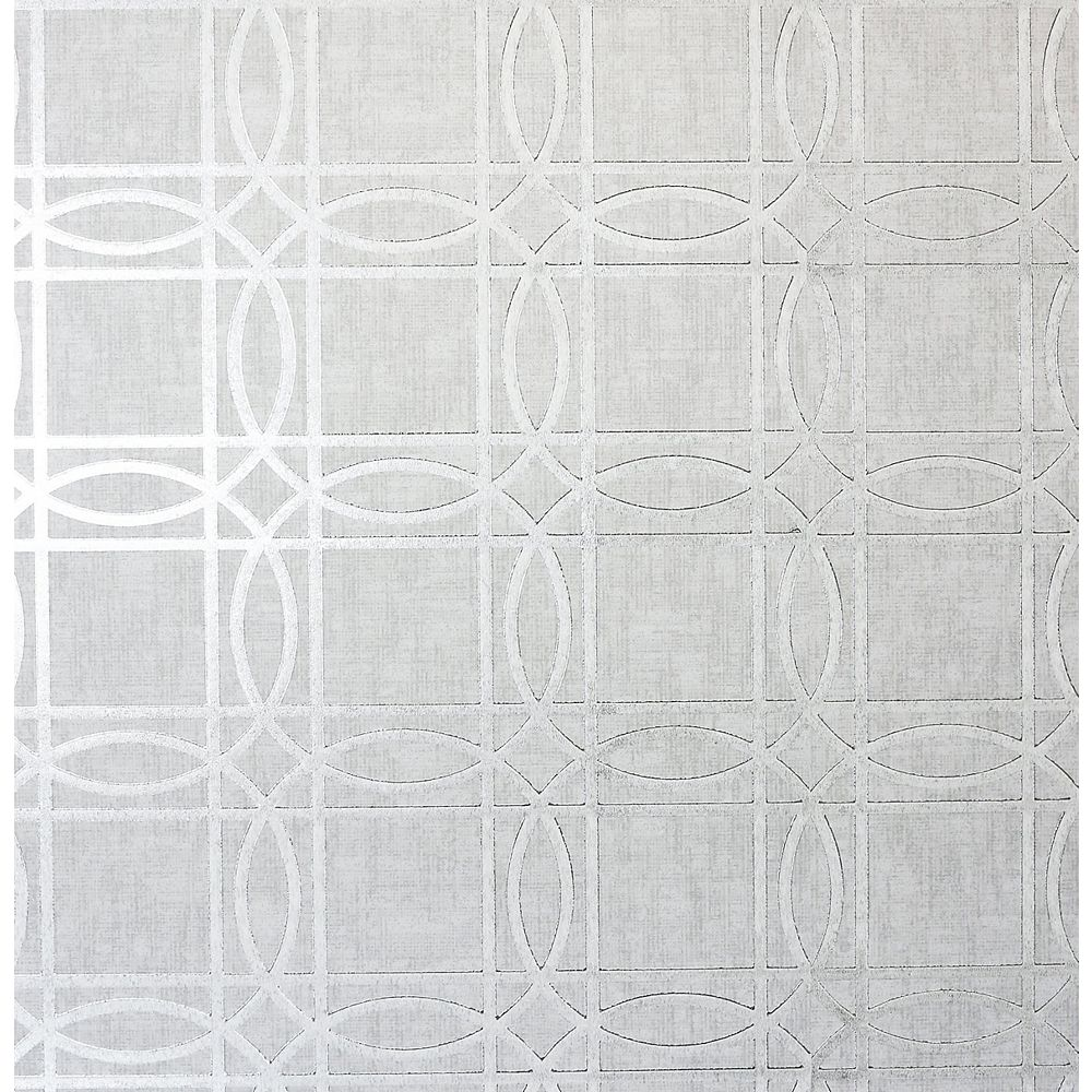 Arthouse Frosted Wood Silver Wallpaper