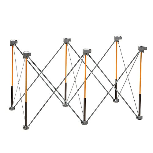 Centipede 30 inch x 24 inch x 48 inch Work Support With 4 X-Cups, 2 Quick Clamps,  Bag, CK6S