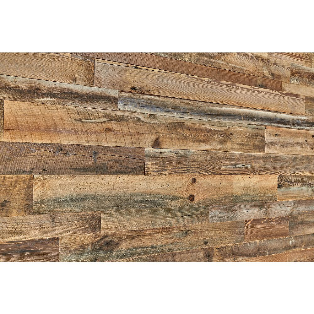 Barn-Wall Antique Brown Barn Board Wall Panels in Varying Sizes (14 sq.ft. / case)