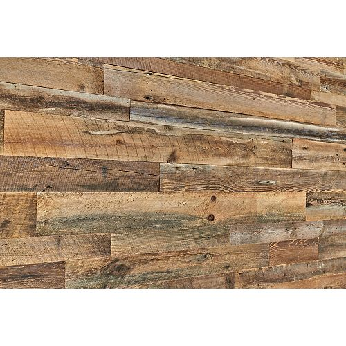 Antique Brown Barn Board Wall Panels in Varying Sizes (14 sq.ft. / case)