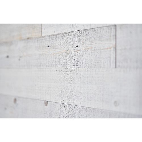 White Wash Barn Board Wall Panels in Varying Sizes (16 sq.ft. / case)