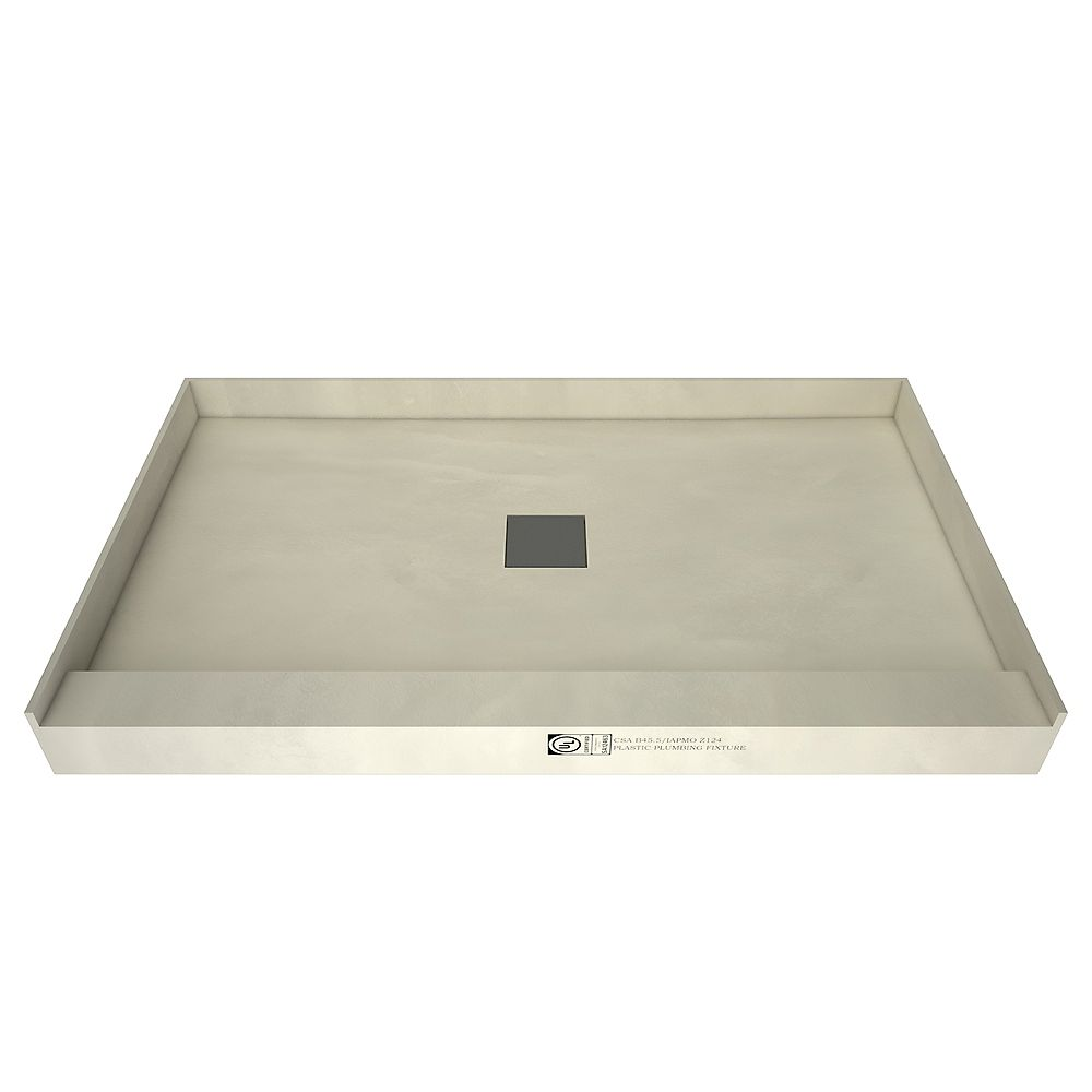 Tile Redi 36 in. x 48 in. Single Threshold Shower Base in Yellow with Center Drain