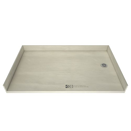 Tile Redi 35 in. x 60 in. Barrier Free Shower Base with Right Drain