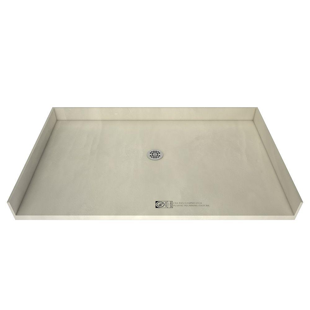 Tile Redi Base de douche avec accès de plain-pied et drain central, 40 po x 48 po