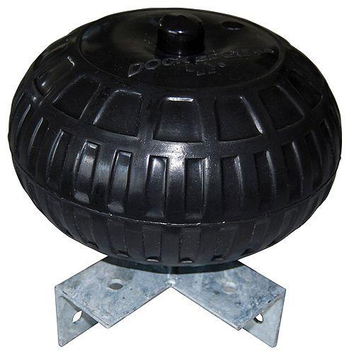 Roue de quai d'angle de 9 pouces en noir