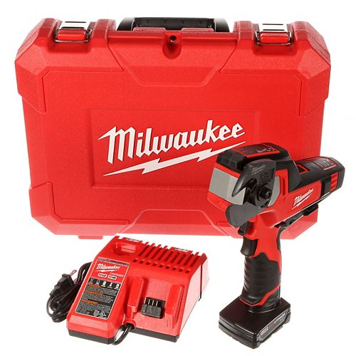 Milwaukee Tool M12 12V Lithium-Ion Cordless 600 MCM Cable Cutter Kit W/(1) 3.0Ah Battery, Charger & Hard Case