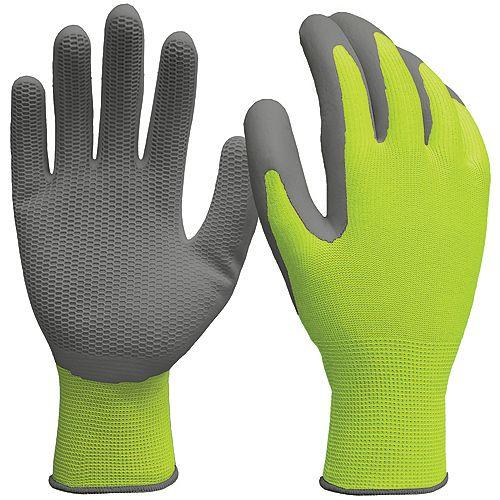 Firm Grip 3-Pair Honeycomb Latex Gloves